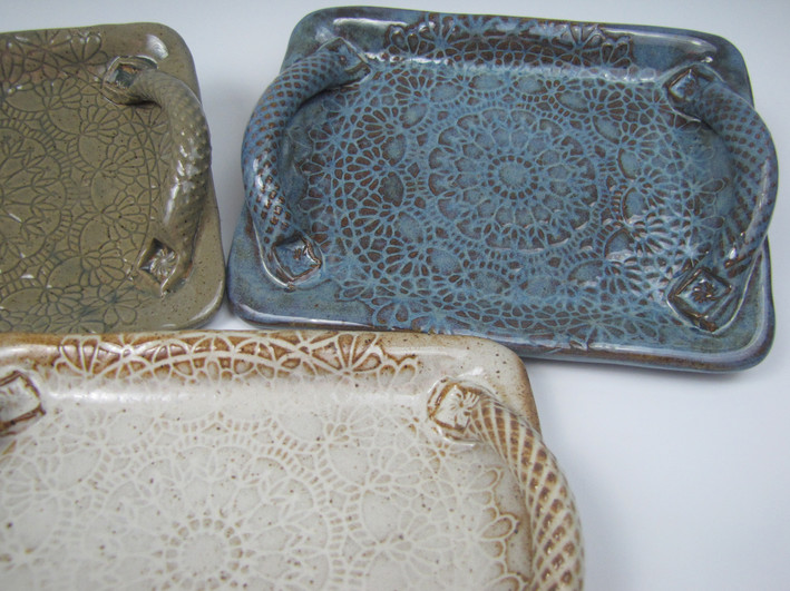 Lace Imprinted Small Trays