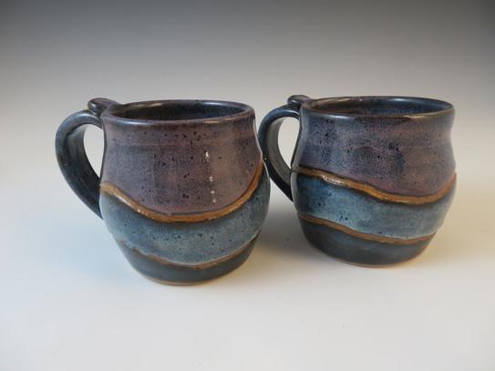 Mugs in Midnight Blue, Rustic Blue & Lavender