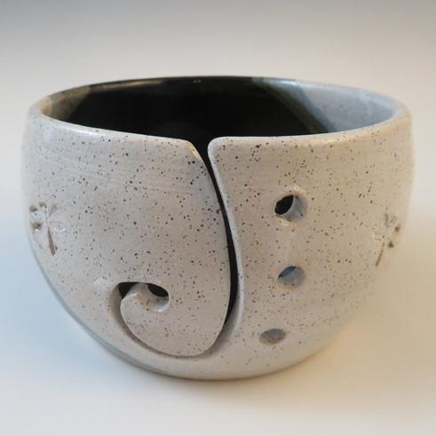 Yarn Bowl in Black & White