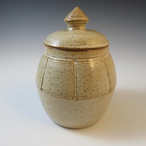 Covered Storage Jar in Vanilla Spice