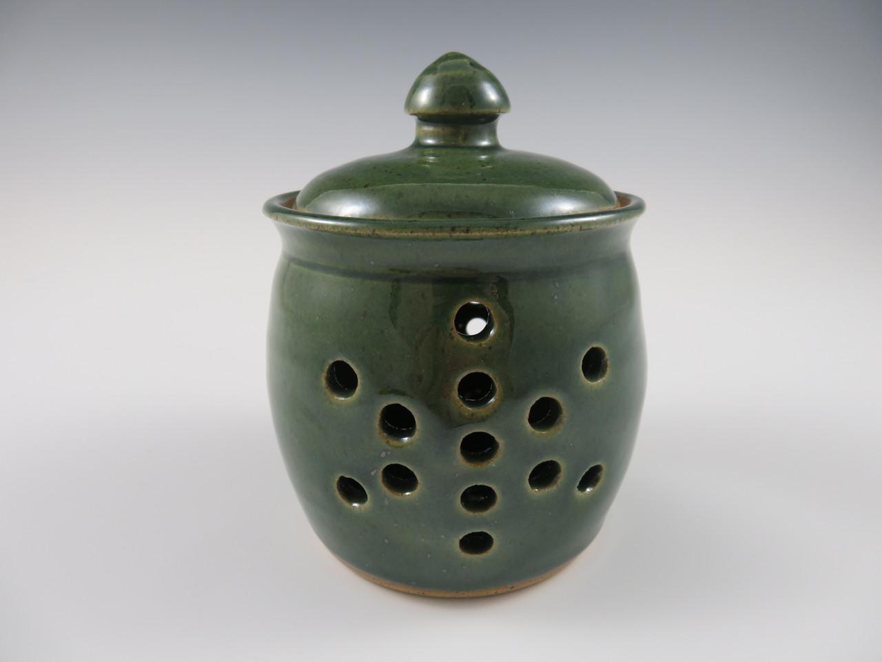 Garlic Pot in Ivy Green