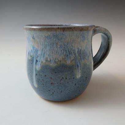 Mugs in Rustic Blue w/Flowing Rim