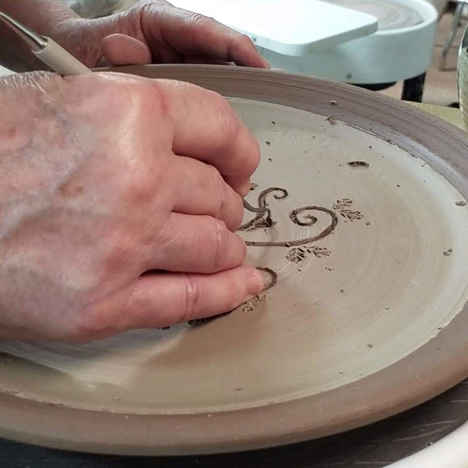 Carving a Design on a Plate