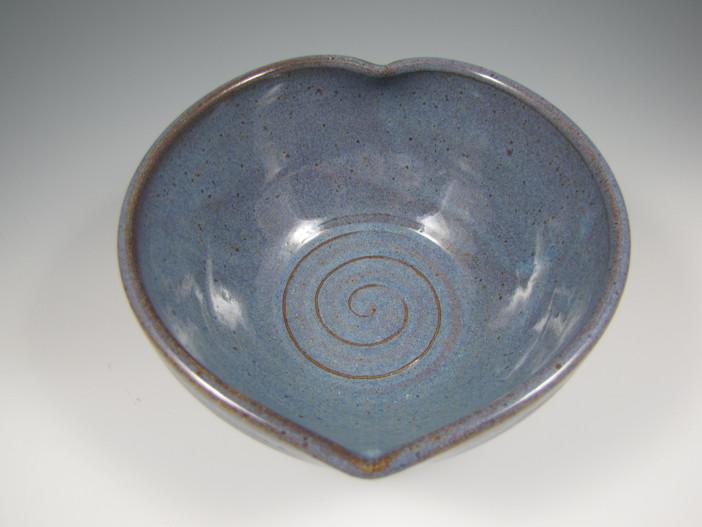 Heart Bowl in Rustic Blue