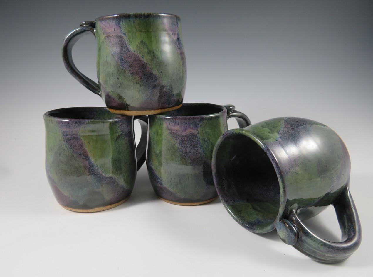 Mugs in Green/Purple