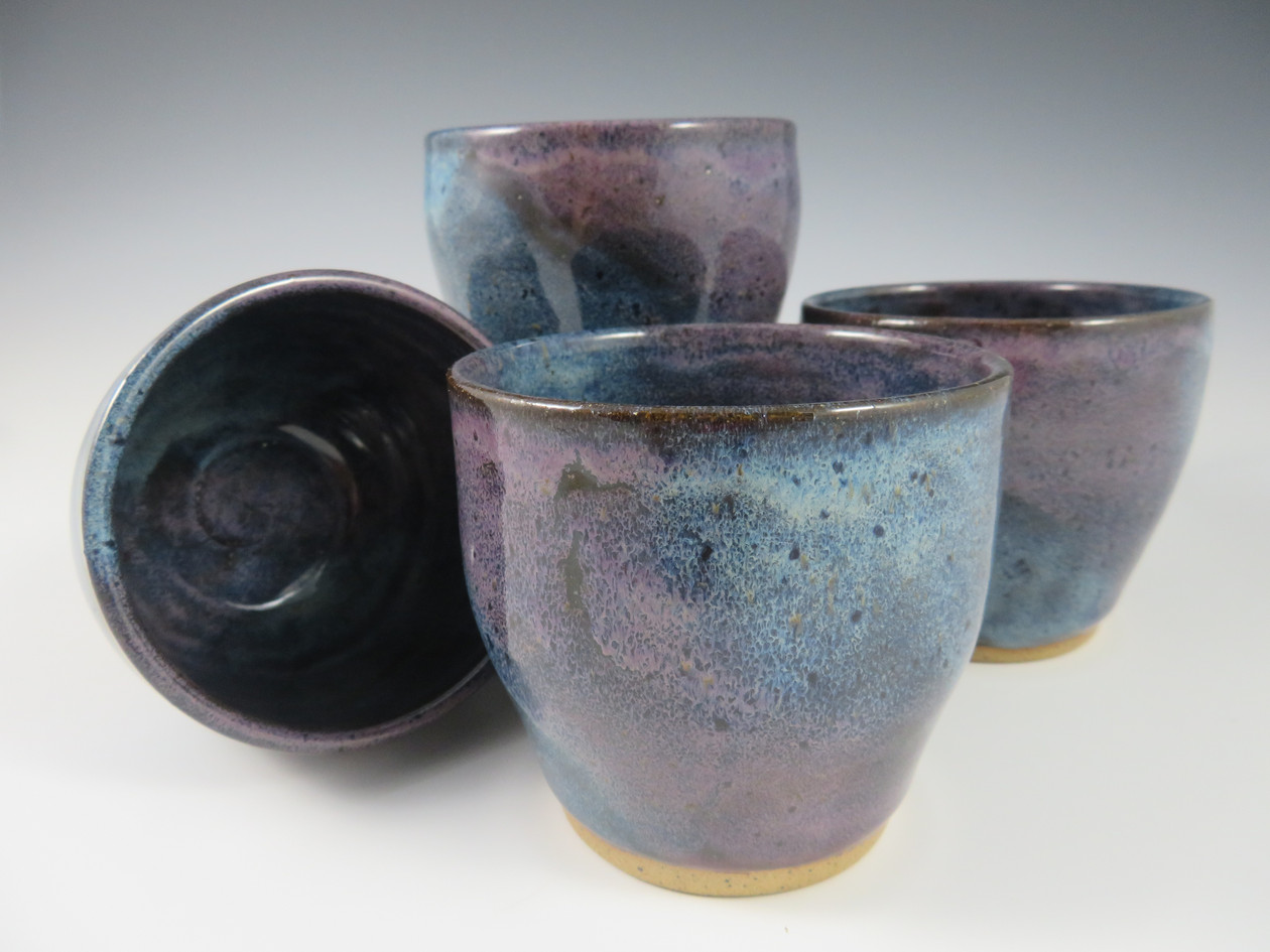 Wine Cups in Blue/Lavender