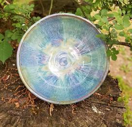 Bowl in Flowing Seaweed & Merlot