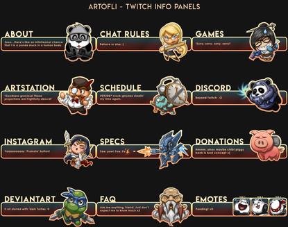 ArtofLi - Twitch Info Panels