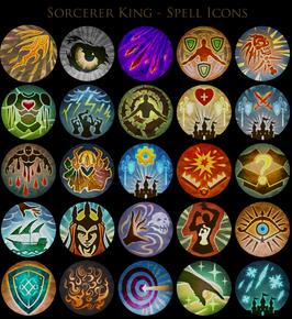 Sorcerer King - Spell Icons