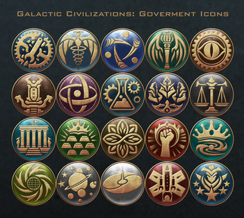 Galactic Civilizations - Government Icons