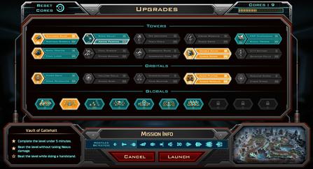Siege of Centauri - Upgrades UI Concept