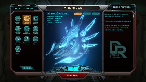 Siege of Centauri - Archives UI Concept