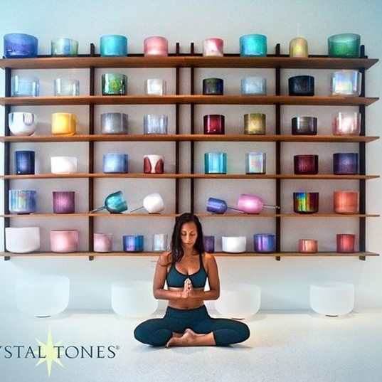 """How many """"Singing Crystal Bowls"""" do you own and tell us about your first VSP experience."""