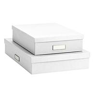 Bigso White Stockholm Office Storage Box