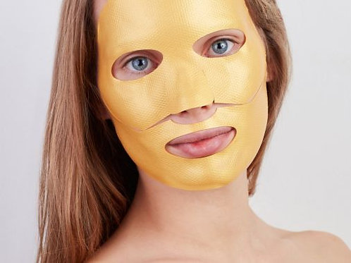 Golden Glow Mask (face shape ) 5/pkg