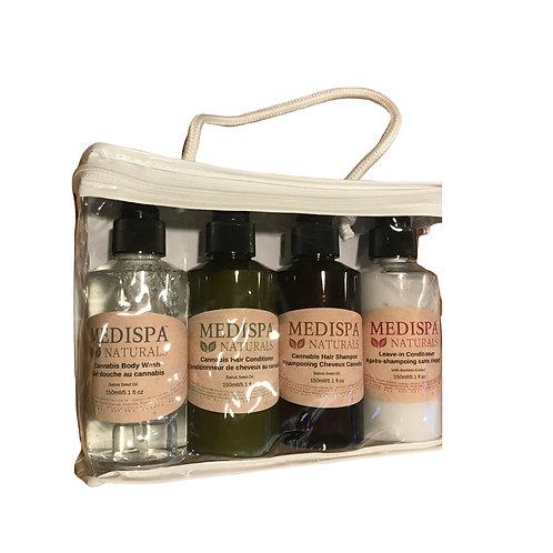 Cannabis Hair & Body Kit totes 4 x150ml