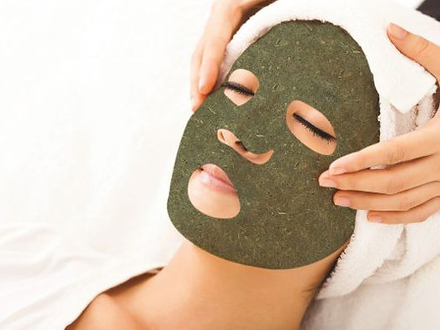 Green Tea Leaf & Mint Mask (face shape) 10pkg
