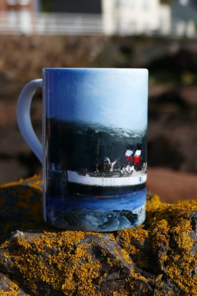 Art Mug with picture of the Waverley by Ian Rawnsley
