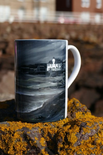 Art Mug with picture of the Royal George Hotel by Moonlight by