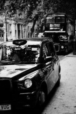 Taxi in London.