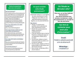 Envie de participer à une étude sur l'entrainement du traileur ?!