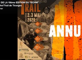 ANNULATION DE L'EDITION 2020