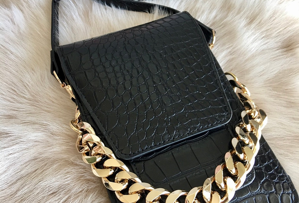 Cuban Link Croc Mini Phone/Card Holder