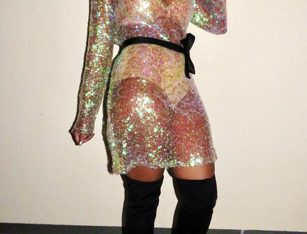 Sequin Ting Clear Dress