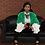 Thumbnail: Green Baby Faux-Fur Bomber Jacket
