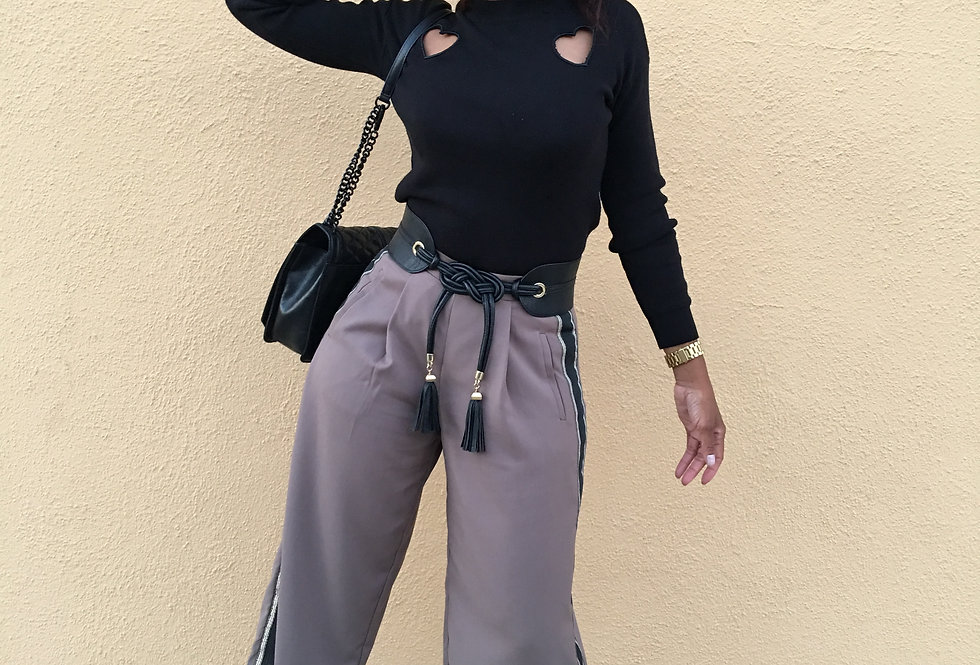 Soldier Girl Wide Legged Cropped Slacks