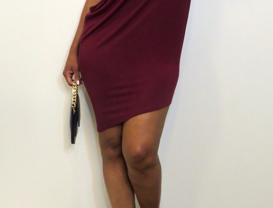 Side View Asymmetric Mini Dress