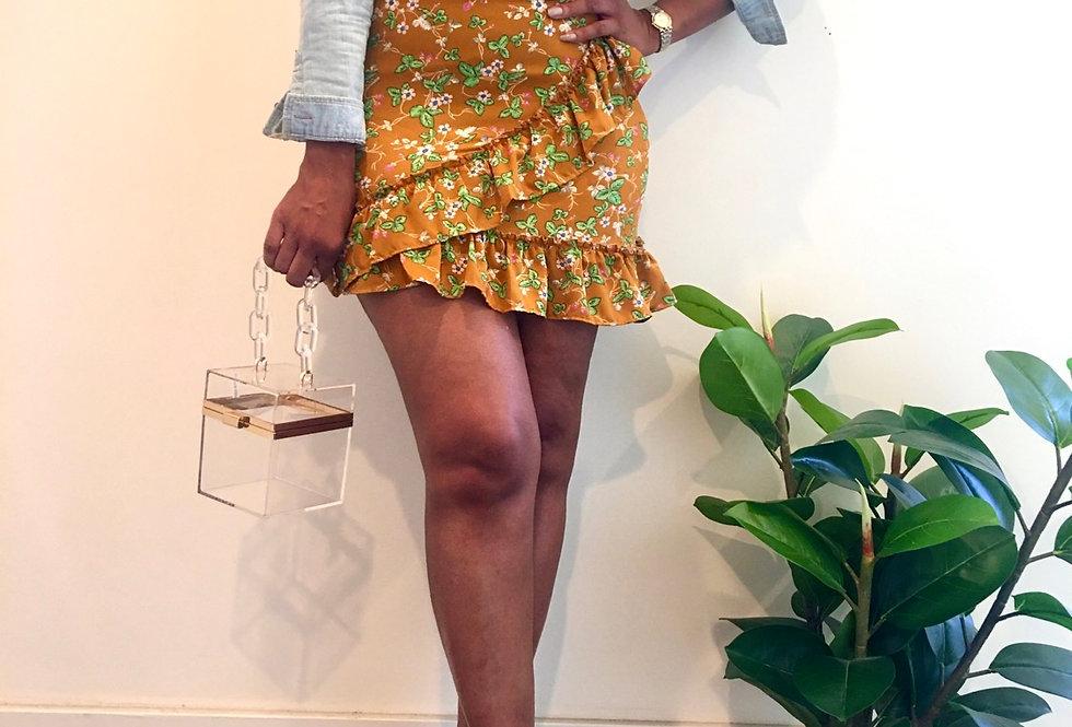 Short 'n Sassy Floral Ruffle Skirt