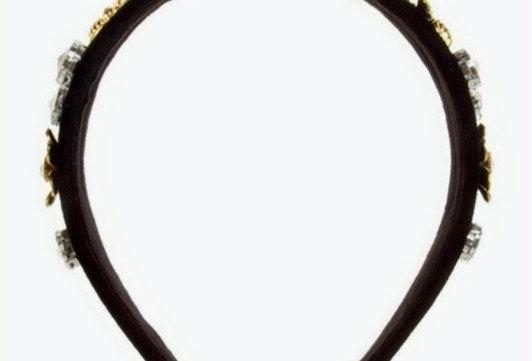 Bee-Jeweled Velvet Crown Headband