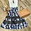 Thumbnail: Lady Flowers Pleated and Mesh Skirt-Navy