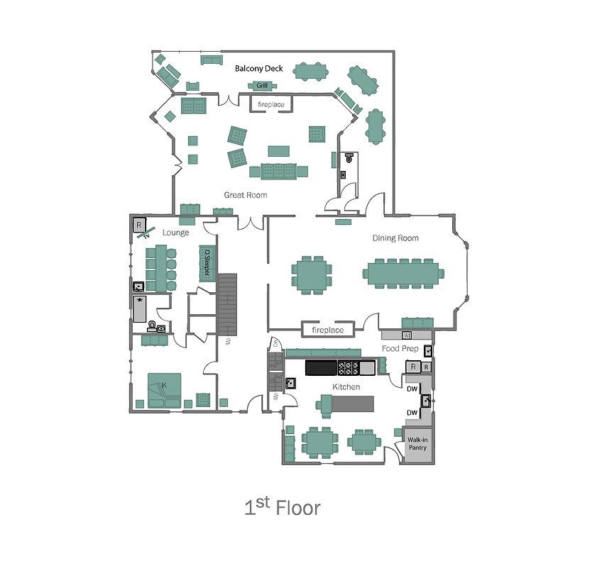 Lake Placid 12 Bedroom Chalet-1st floor-