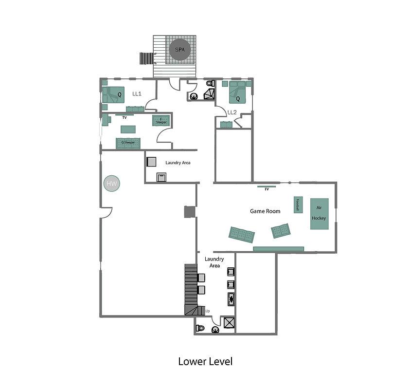 Lake Placid 12 Bedroom Chalet lower leve