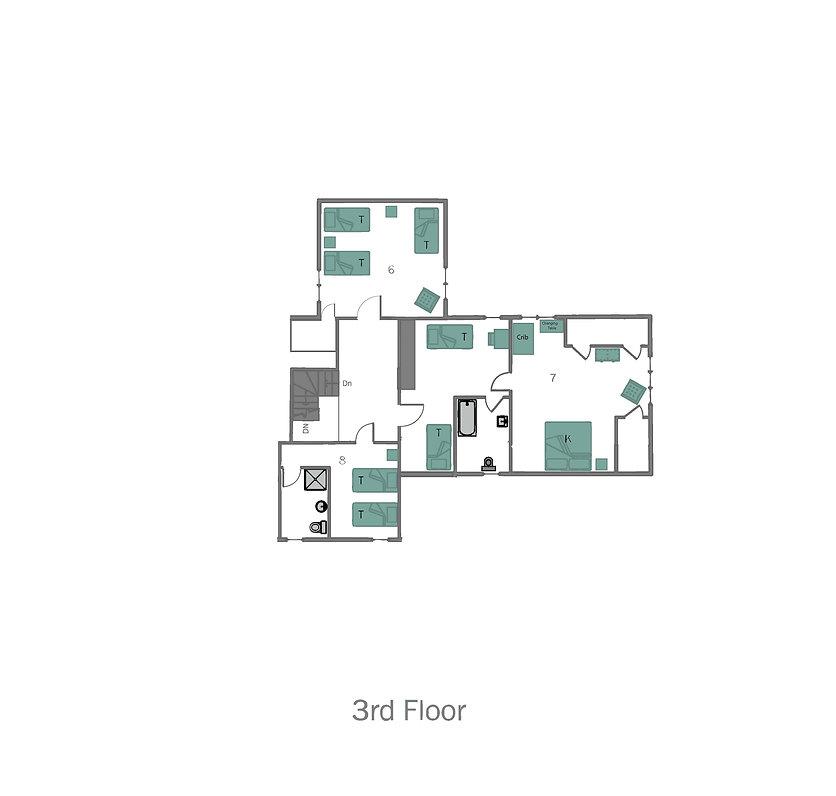 Lake Placid 12 Bedroom Chalet-3rd floor.