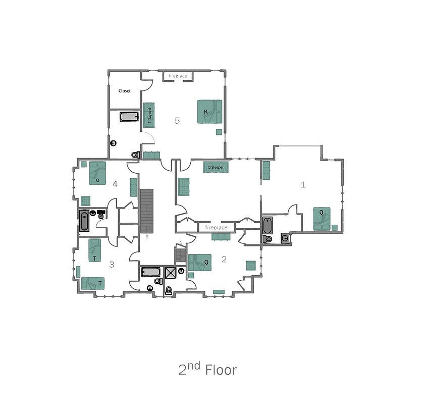 Lake Placid 12 Bedroom Chalet-2ndfloor-2