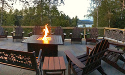 Gas Fire Pit Overlooking Lake Placid