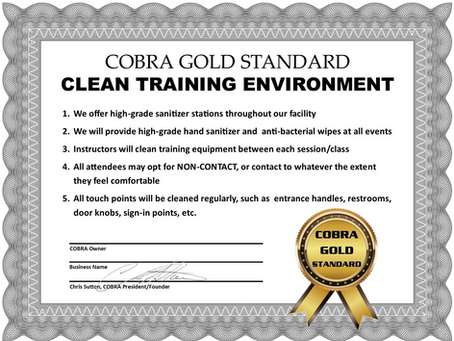 Cleaning Standards to combat COVID-19