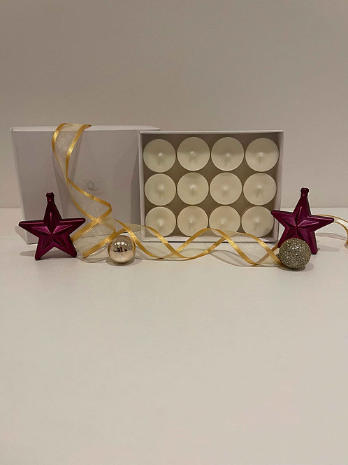 Unfragranced T Light Gift Box Set of 12