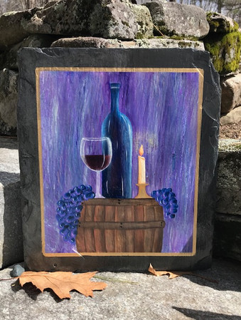 #2 Bottle of Wine 16x10 Selling price $7