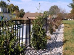 Aluminum Pool Fence with Landscape