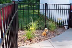 Aluminum Fence with Landscape