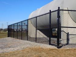 Commercial Black Vinyl Coated Fence