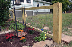 Wood and Wire Garden Fence