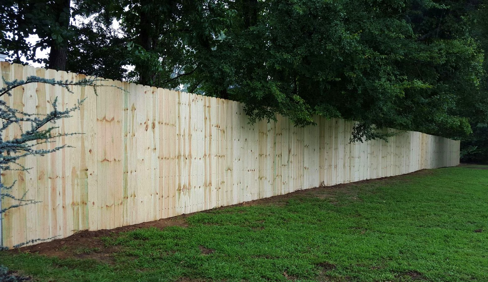 Wood Privacy Dog Ear Fence