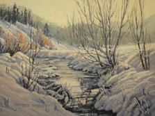 'Allison Creek In Winter' - 8x10 - Oil. SOLD