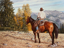 "'Cowboy's Heaven' - 18""x 24"" - Oil. SOLD."
