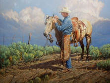 """'Country Sage' - 24""""x 30"""" - Oil. (#0714) $4,620.00 unframed."""